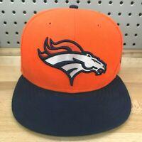 Denver Broncos NFL Football New Era 59FIFTY 5950 Fitted Hat 7-3/8 Orange Hat Cap