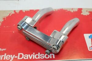 Harley Davidson Pull Back 4'' Clamp Riser 1' Bars Softail Dyna Sportster