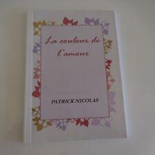 Manuscrit livre artiste Patrick NICOLAS La couleur de l'amour PN 1964 France