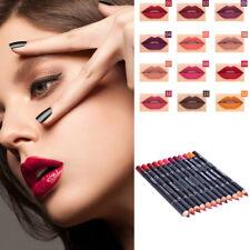 Women Lip Liner Pen Set Matte Lip Gloss Lipstick 12 Colors Cosmetic Pencil kit