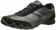 Skechers Women's Bikers-Systematic Oxford,Black Suede,5 M US