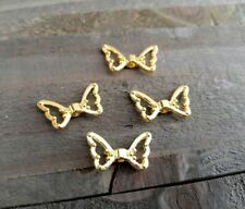 10 Angel Wing Beads Spacer Beads Wing Spacer Beads Metal Gold Beads