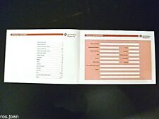 Vauxhall ZAFIRA Service History Record Book New Genuine no stamps