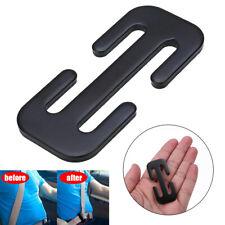 1pc Locking Clip Metal Automotive Car Safety Seat Belt Steel Adjuster Black/