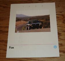 Original 1990 Volkswagen VW Fox Sales Brochure 90