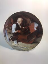"""Norman Rockwell Collector Plate """"Grandpa's Gift"""""""