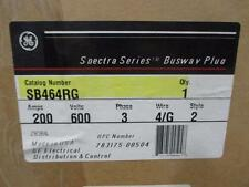 General Electric SB464RG 4 Wire 600V 200A Rejection Style Grounded Busway Plug
