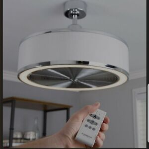 """NEW Fanimation Studio Collection Ring Air 23"""" Chrome LED Indoor Ceiling Fan NEW"""