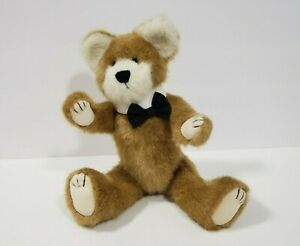 """The BOYDS Bear Collection 12"""" Jointed Teddy Bear Black  Bow Tie 1990-1999"""