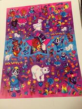 Lisa Frank Jumbo Sticker Sheet Rare! S743-02 Hollywood Bear