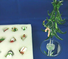 Lsarts Crystal Christmas Tree with Wine Charm Ornaments