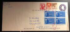 2002 Canal Zone Panama Postal Stationary Airmail cover To Stonington Ct Usa