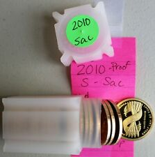 2010 S Sacagawea Golden Proof Dollar Roll  20 Coins $1 US Coins Great Law Peace