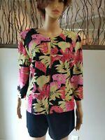 "JOSEPH RIBKOFF Womens Size 12 Full Zip ""Veston Jacket"" Vibrant Floral BEAUTIFUL"
