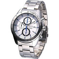 Seiko Sports Chronograph Tachymeter White Dail Men's Watch SNDB51P1