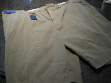 NWT - Mens RALPH  LAUREN Olive Green Flat Front Cotton Shorts (Size 50)