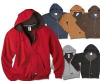 Dickies Mens S-3XL 4XL 5XL Thermal Lined FLEECE Hooded Sweatshirt Jacket, tw382