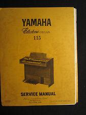 Yamaha Electone Organ 115 Service Repair Shop Manual Schematics Wiring Parts