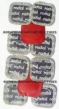 Neumático nuevo 10 parches de reparación de pinchazos 45mm Universal Coche Camión Quad Bicicleta Camión