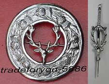 Scottish Set of Brooch with FREE Kilt Pin(in Pic) IN Beautiful Stag Design