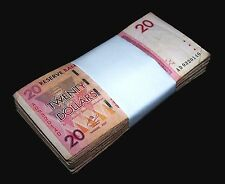 100 Zimbabwe 20 Dollar banknotes-full bundle