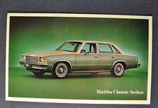 1979 Chevrolet Malibu Classic Sedan Postcard Brochure Excellent Original 79