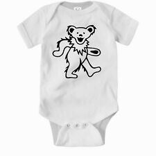 Grateful Dead Dancing Bear Romper. Cute Gift Baby Clothes One Piece Jump Suit