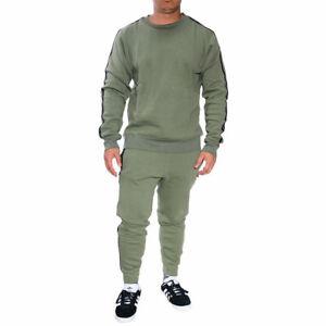 Mens Tracksuit Set 2Pcs Fleece Sweatshirt Pants Bottoms Sport Set Jogging Suit