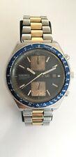Vintage Seiko 6138-0030 Chronograph Automatic Tachymeter Blue Dial Arabic Date
