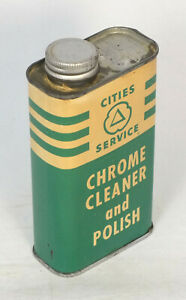 Vintage Can Cities Service Chrome Cleaner and Polish