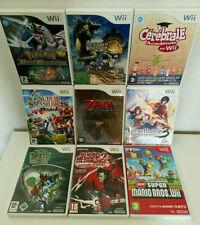 Lot de 9 jeux Wii . tous complets .tbé . pokemon, zelda, mario ...