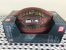 NEW LIMITED EDITION SEATTLE SEAHAWKS WILSON DUKE AUTHENTIC SUPER BOWL GAME BALL