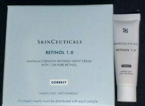 Skinceuticals Retinol 1.0, 5 Sample (Travel) Size Tubes, Brand New Fast Shipping