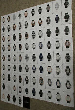 Black JD JAQUET DROZ Watches Chronographs & Pocket Watch 85 Card Box Set in Case