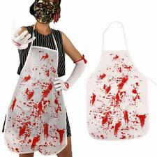 Halloween Custume Butcher Chef Bloody Apron Fancy Dress Splattered Killers Party