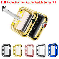 Full Protect Case for Apple Watch Series 3 2 TPU Cover + Screen Protector Film