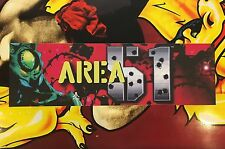 Area 51 Arcade Marquee Atari Translight Header Sign Mylar Backlit Overlay