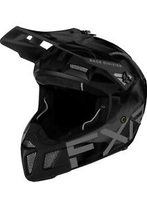 "FXR ""CLUTCH SMOKE"" SNOWMOBILE HELMET REMOVABLE LINER - BLACK OPS - PICK SIZE"