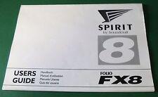 Soundcraft Spirit Folio FX8 Users Guide