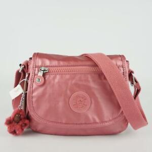 KIPLING SABIAN Mini Shoulder Crossbody Bag Flourishing Pink Metallic