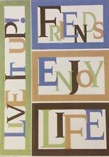 MEADOW LITTLE BIG WORD Cardstock Stickers(4pc)Cloud9•Friends •Enjoy•Live•Life•••