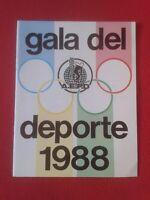 REVISTA CUADERNO PROGRAMA GALA DEL DEPORTE 1988 AEPD ASOCIACIÓN ESPAÑOLA PRENSA