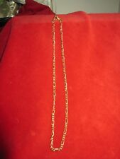 """Made in Italy 17 1/2"""" Vintage Gold Tone Chain Necklace .925"""
