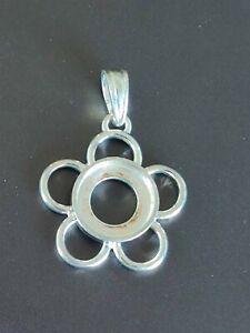 Kameleon Pendant  Flower 5 Petals Sterling Silver for Jewelpops