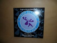 PURPLE MOOSE BREWERY GLASLYN ALE  Beer Ale Beer Pump Clip MAN CAVE