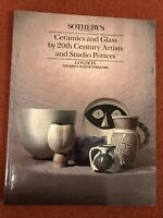 Sotheby's Auction Catalogue 26th October 1989 20th Century Ceramics and Glass