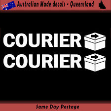 Vinyl Car Sticker - Courier sticker - Set of 2 Freight Delivery