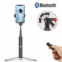Wireless Bluetooth Selfie Stick Shutter Remote Extendable Tripod for Cellphone
