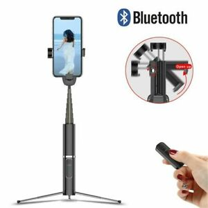 Wireless Bluetooth Selfie Stick Shutter Remote Extendable Tripod for Cellphone
