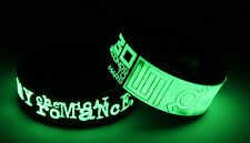 MY CHEMICAL ROMANCE 30 SECONDS TO MARS M7T7 2x Wristband Glow in the Dark